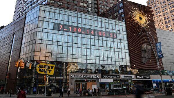 地球の救済に残された時間をマンハッタンのデジタル時計が表示 - Sputnik 日本