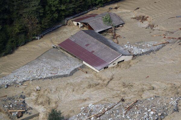 フランスのアルプ=マリティーム県ロクビリエールの洪水被害の様子(2020年10月3日) - Sputnik 日本