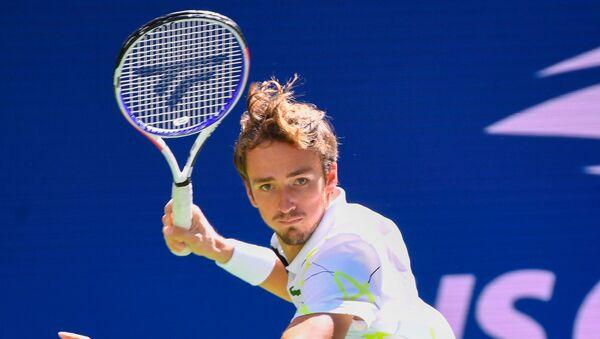 Российский теннисист Даниил Медведев против швейцарского теннисиста Стэна Вавринка на U.S. Open - Sputnik 日本