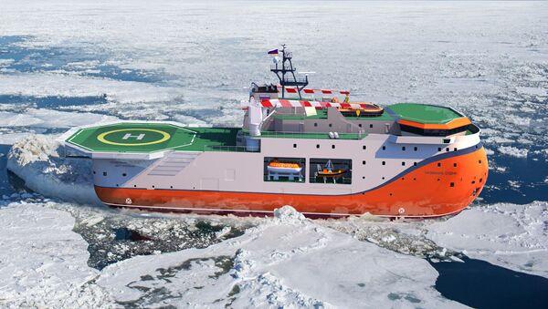 Ледостойкая платформа «Северный полюс» - Sputnik 日本
