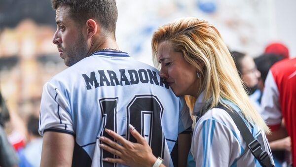 アルゼンチン、ブエノスアイレスのディエゴ・アルマンド・マラドーナ・スタジアムでマラドーナ氏を悼むファン - Sputnik 日本