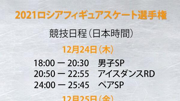 2021ロシアフィギュアスケート選手権 - Sputnik 日本