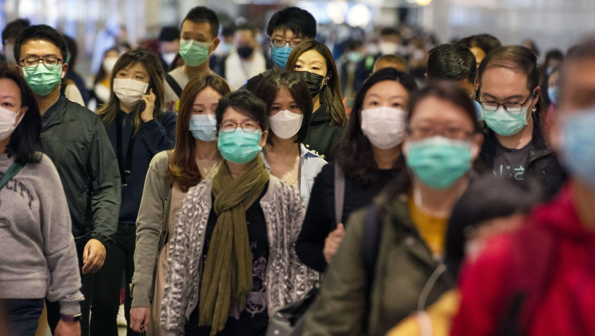 マスクをした人々 - Sputnik 日本, 1920, 22.05.2021