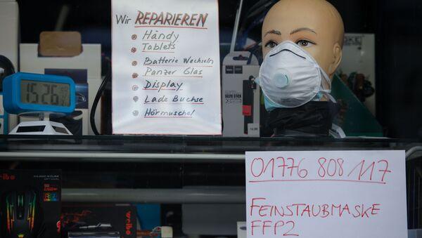 ベルリンの店頭に置かれているFFP2マスク - Sputnik 日本