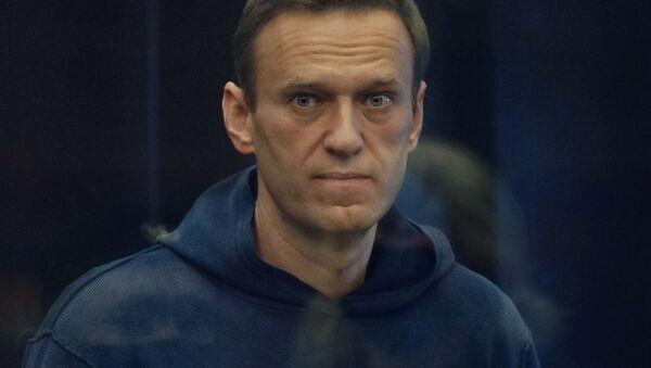Алексей Навальный на заседании Московского городского суда - Sputnik 日本