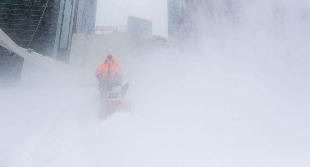 モスクワの記録的な大雪