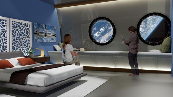 オービタル・アセンブリ社の構想する宇宙ホテル「Voyager Station」の客室 - Sputnik 日本