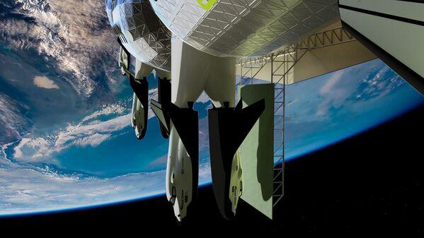 宇宙ホテル「Voyager Station」に付属する緊急避難用の輸送機 - Sputnik 日本