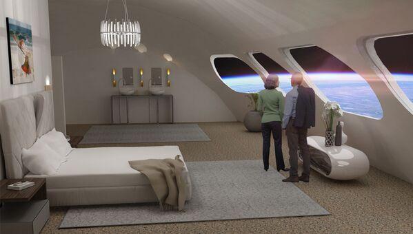 オービタル・アセンブリ社の構想する宇宙ホテル「Voyager Station」の客室「Luxury Villa」 - Sputnik 日本