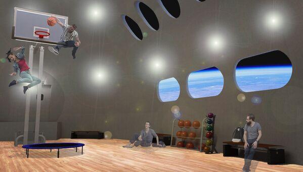 宇宙ホテル「Voyager Station」内のスポーツジム。低重力下での運動が可能に - Sputnik 日本
