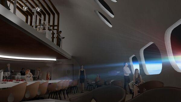 宇宙ホテル「Voyager Station」内のレストラン - Sputnik 日本