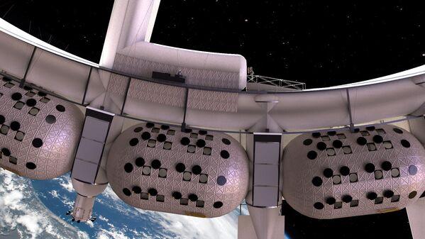 宇宙ホテル「Voyager Station」の客室モジュール。全長20メートルの3階建て - Sputnik 日本