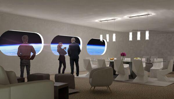宇宙ホテル「Voyager Station」の客室「Luxury Villa」のダイニングルーム - Sputnik 日本