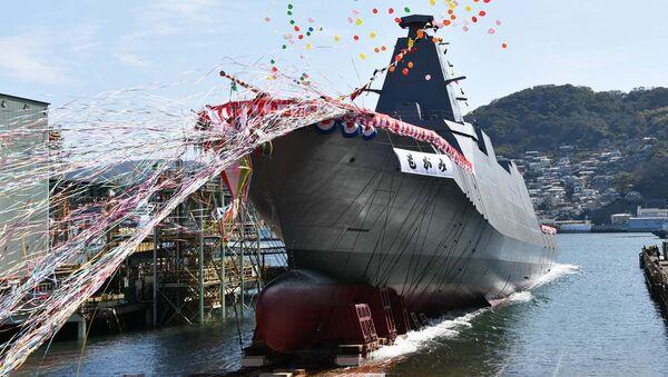Спуск на воду корабля Mogami в Нагасаки на верфях Mitsubishi Heavy Industries, Ltd.  - Sputnik 日本