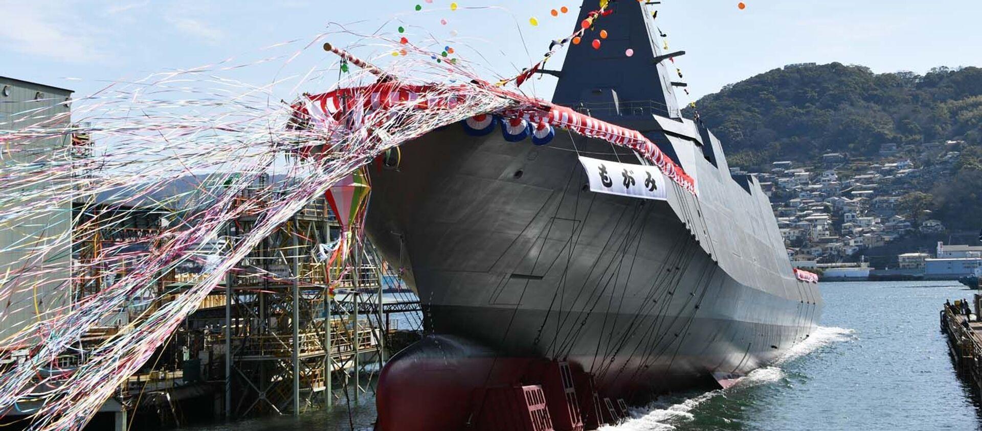 Спуск на воду корабля Mogami в Нагасаки на верфях Mitsubishi Heavy Industries, Ltd.  - Sputnik 日本, 1920, 14.03.2021