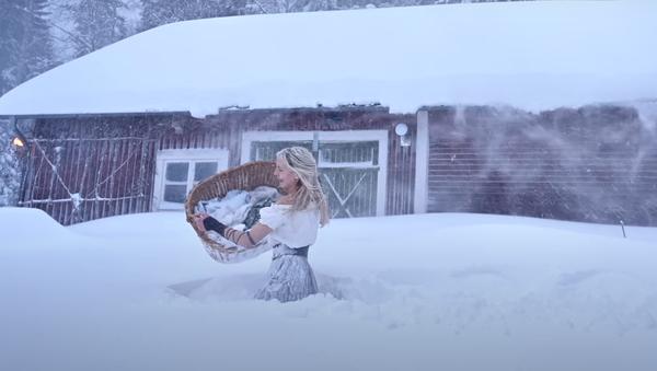 冬のスウェーデンで洗濯 - Sputnik 日本