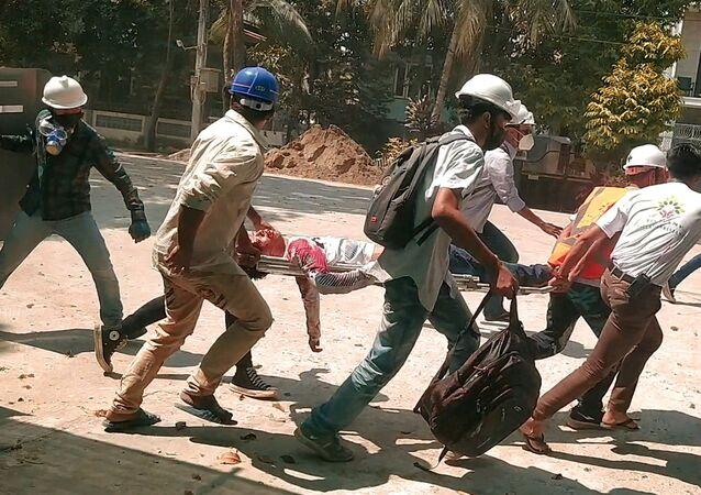 ミャンマーのデモ