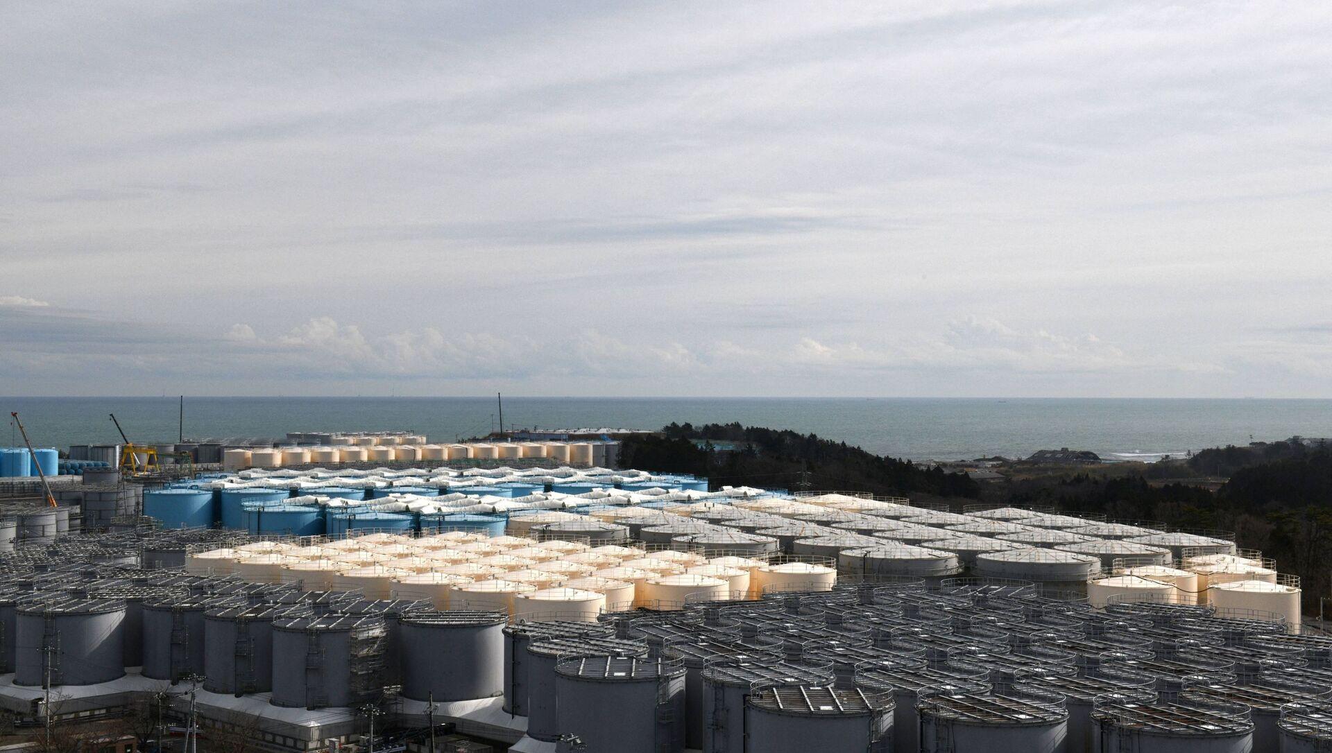 福島第一原発の処理済の汚水貯蔵タンク - Sputnik 日本, 1920, 13.04.2021