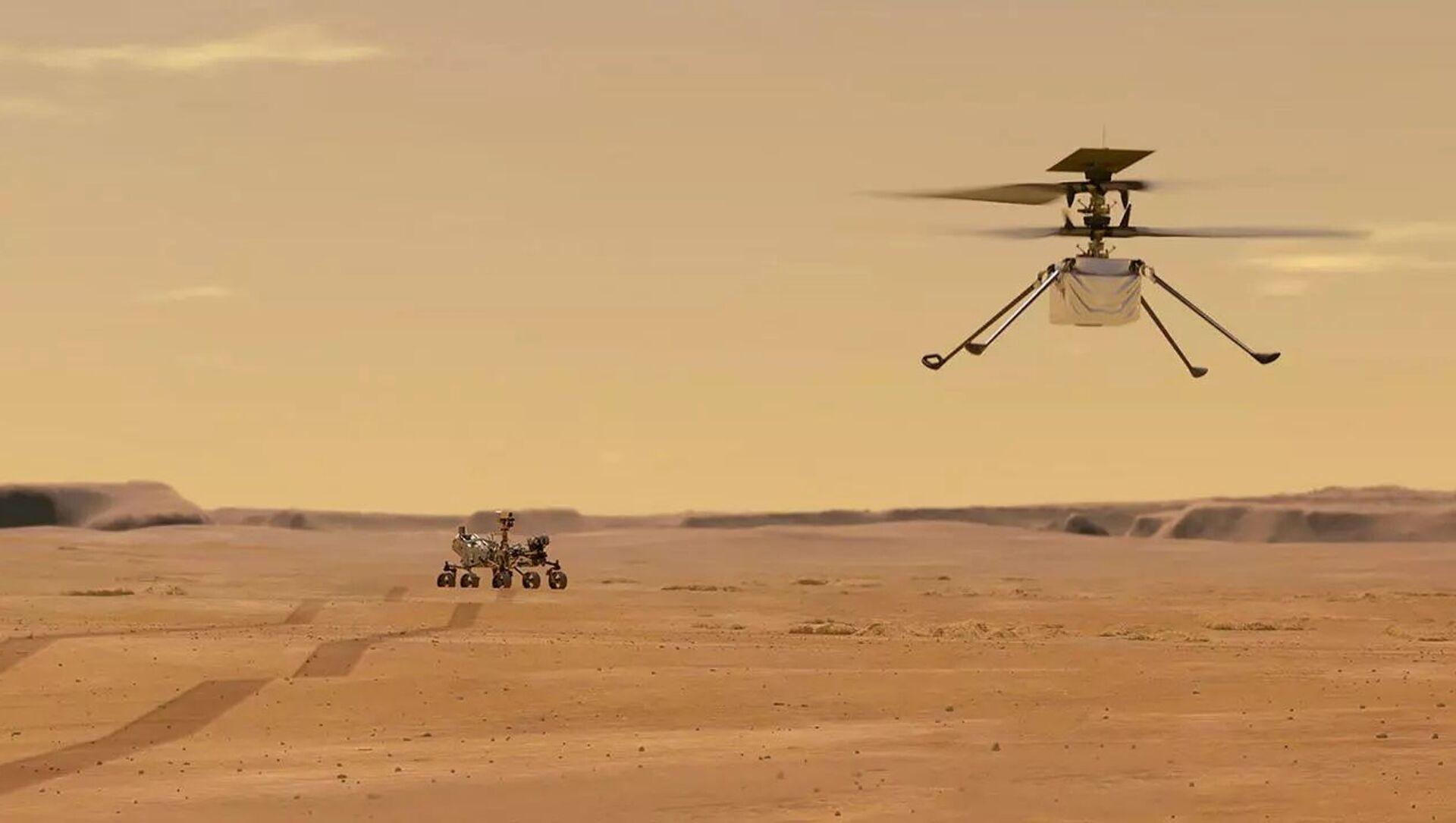 NASAが動画を公開 火星でドローンヘリIngenuityが初飛行 - Sputnik 日本, 1920, 21.04.2021