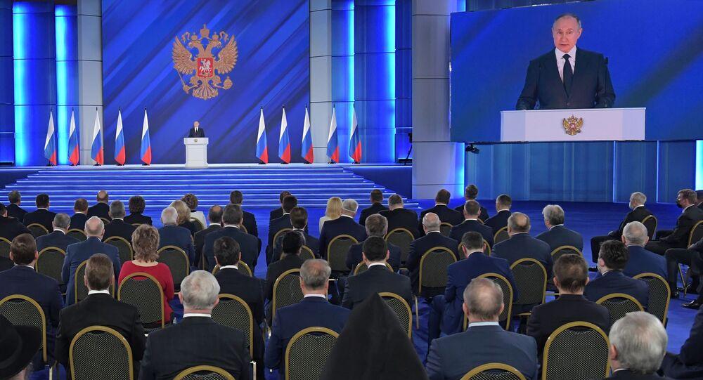 ウラジーミル・プーチン大統領 連邦議会(上院)の年次教書演説