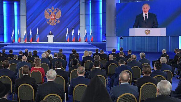 ウラジーミル・プーチン大統領 連邦議会(上院)の年次教書演説 - Sputnik 日本