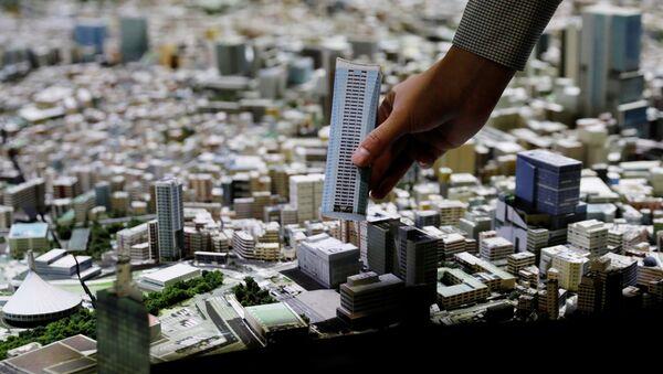 東京都港区六本木の研究施設「森ビルアーバンラボ」に設置された1000分の1スケールの東京模型 - Sputnik 日本