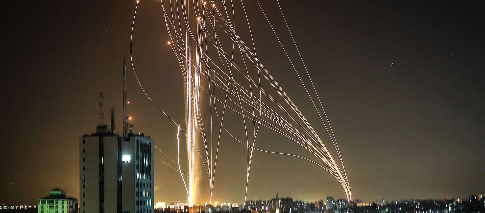 ガザ地区からロケット - Sputnik 日本, 1920, 15.05.2021