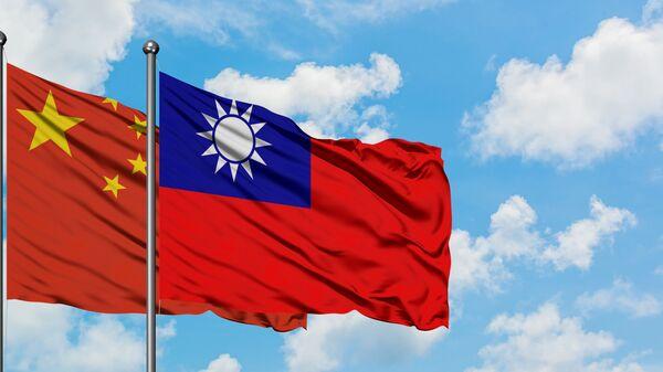Флаги Тайваня и Китая - Sputnik 日本