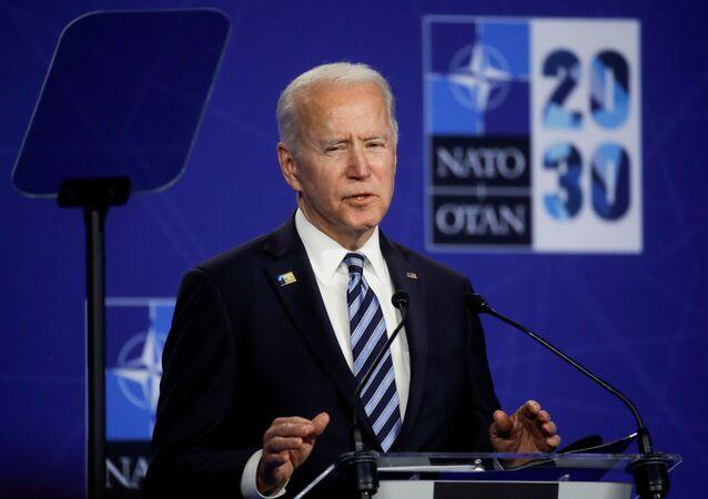 バイデン大統領(14日、NATO首脳会議)
