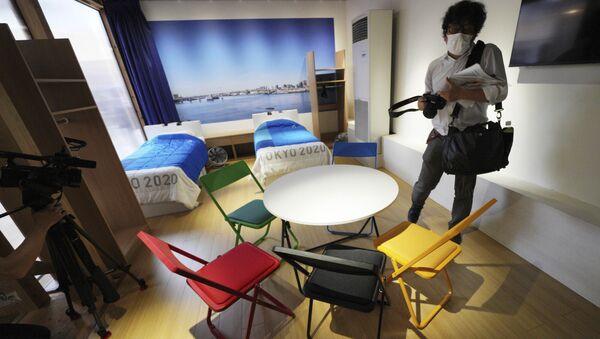 交流施設「ビレッジプラザ」に展示された選手の部屋のモデルルーム - Sputnik 日本
