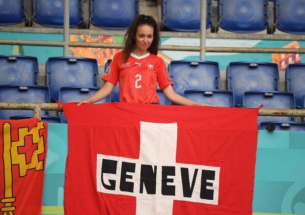 イタリア・ローマで行われたグループA第2節、イタリア対スイスの試合を観戦するスイスのサポーター - Sputnik 日本