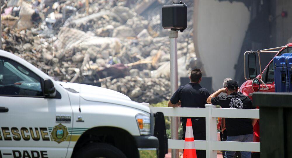 フロリダ州で崩壊した集合住宅