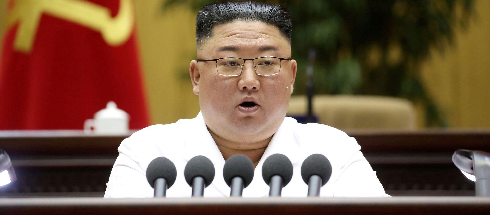 Глава КНДР Ким Чен Ын - Sputnik 日本, 1920, 08.07.2021