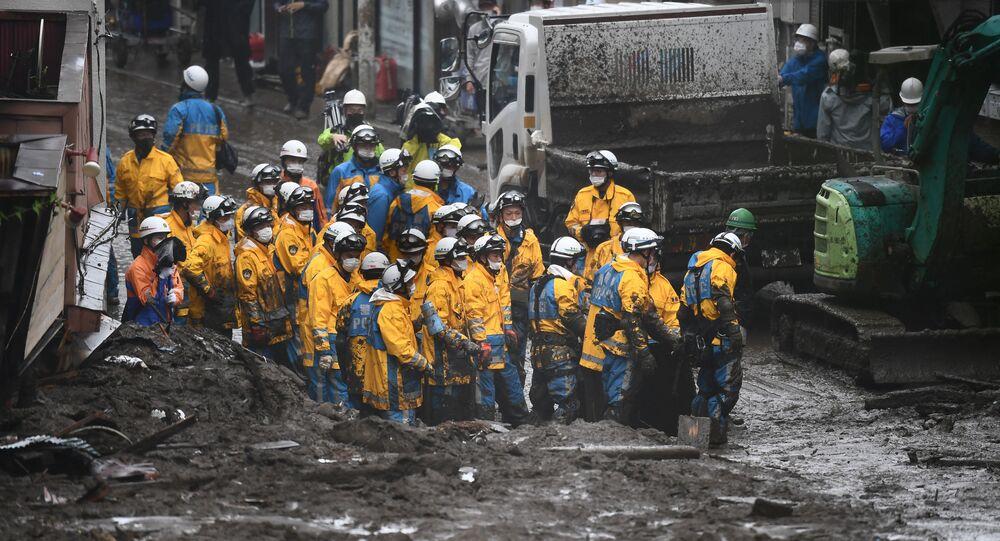 熱海市の土石流 24人の所在確認中