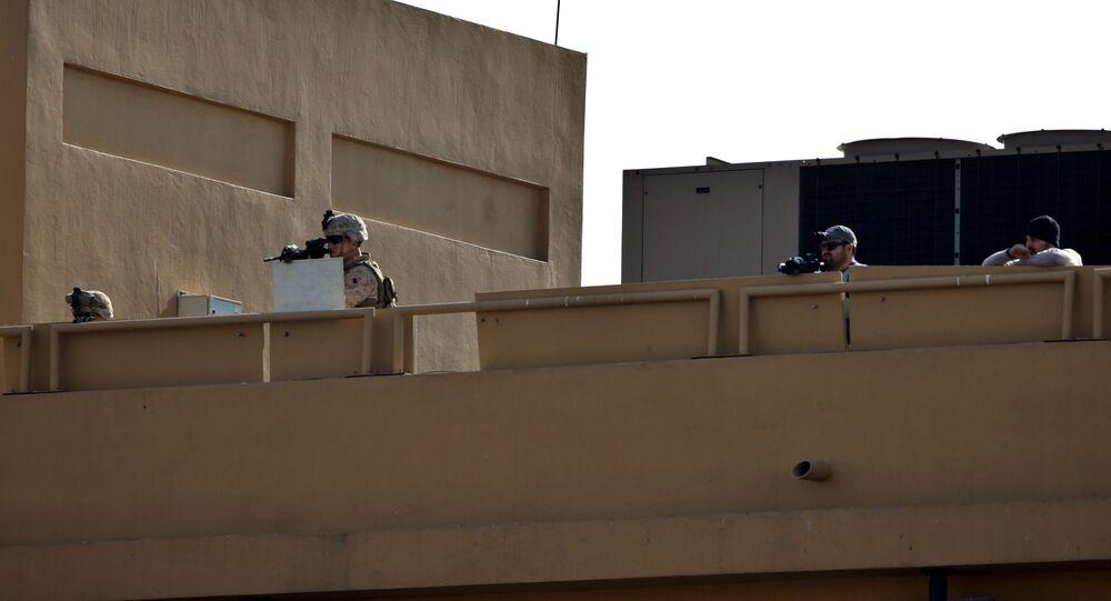 爆弾を搭載したドローン、在イラク米大使館を攻撃