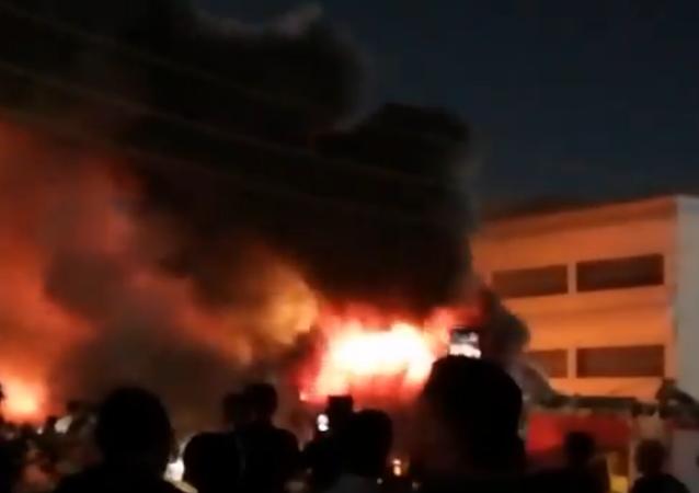 イラク、コロナ患者受け入れ病院で火災