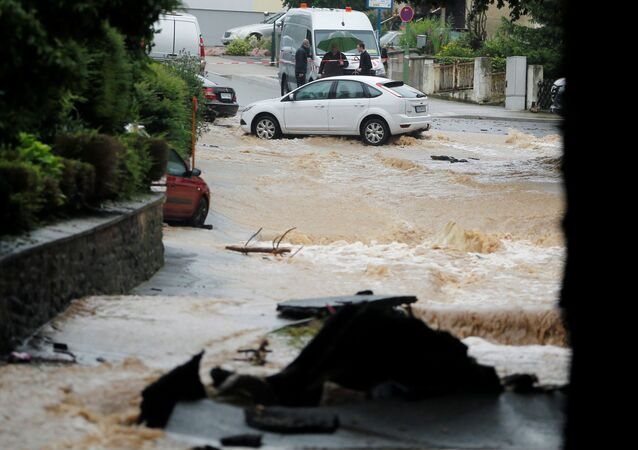 ドイツで発生の洪水