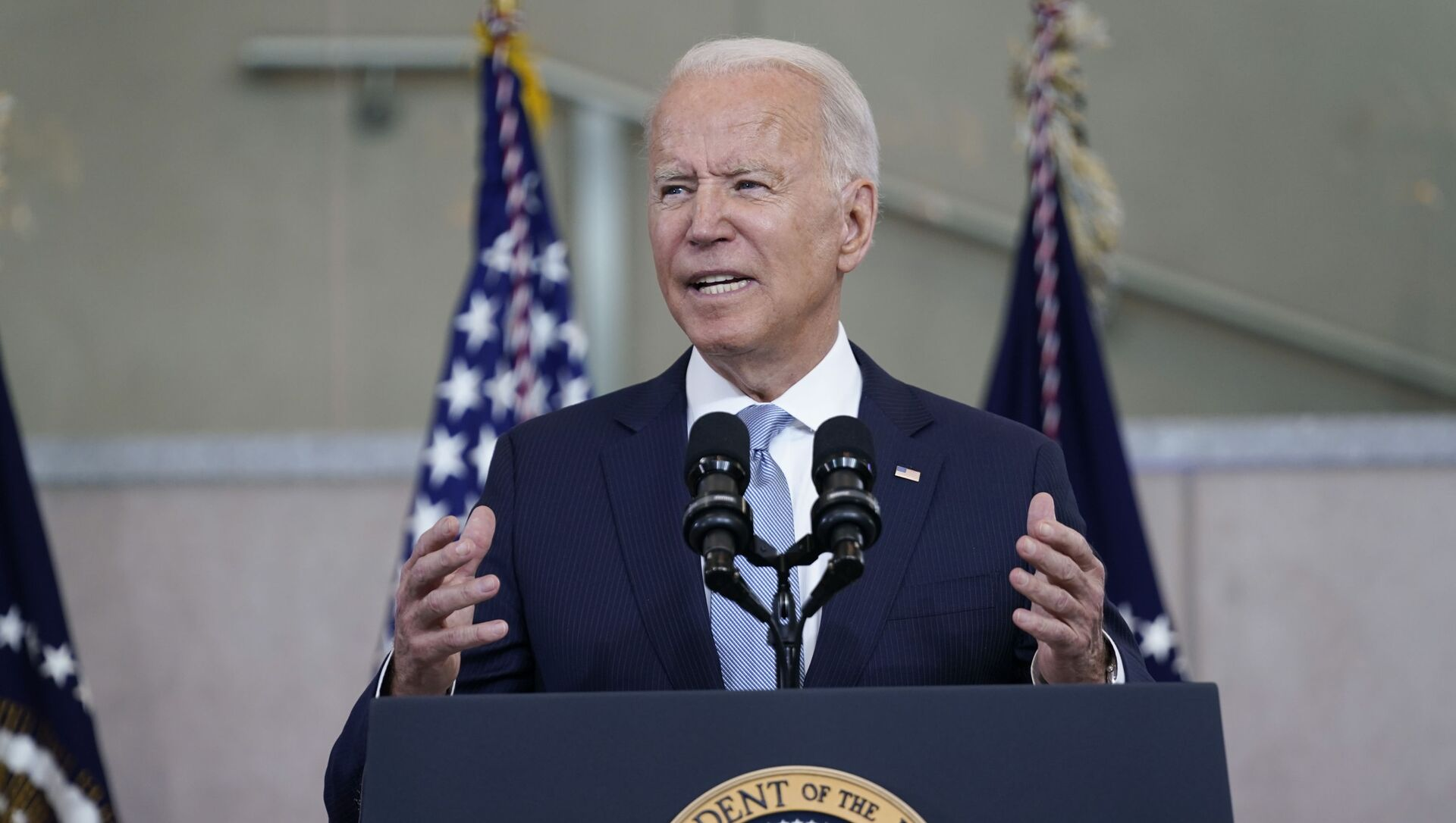 President Joe Biden delivers a speech on voting rights at the National Constitution Center, Tuesday, July 13, 2021, in Philadelphia. - Sputnik 日本, 1920, 22.07.2021
