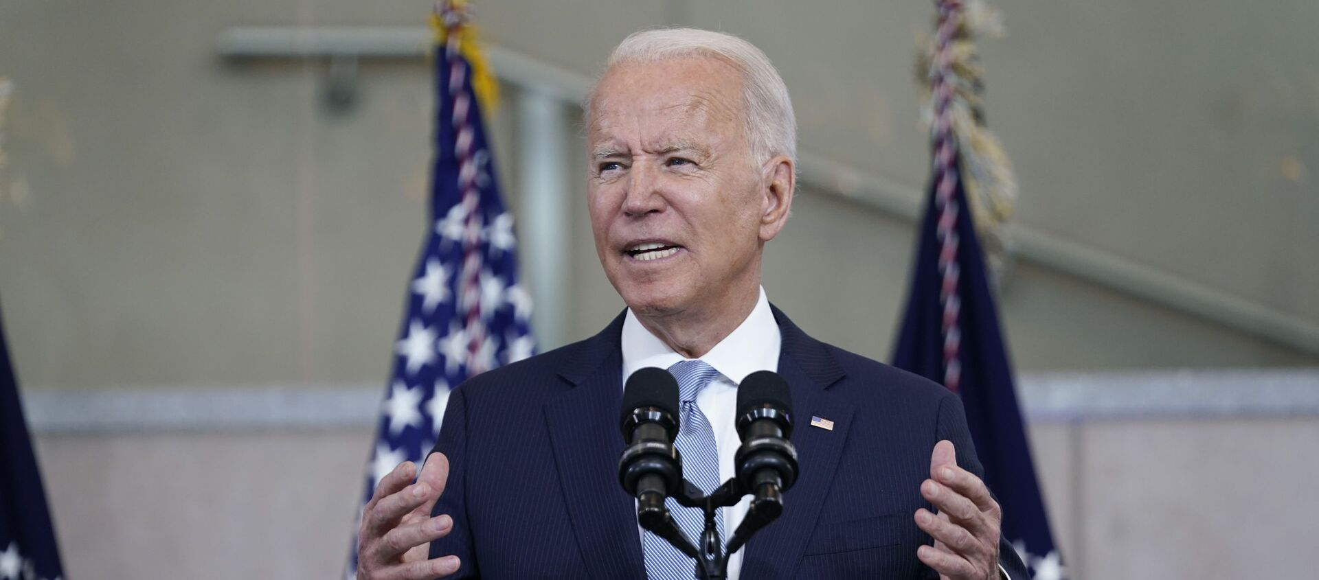 President Joe Biden delivers a speech on voting rights at the National Constitution Center, Tuesday, July 13, 2021, in Philadelphia. - Sputnik 日本, 1920, 12.08.2021