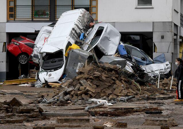 ドイツ西部の洪水