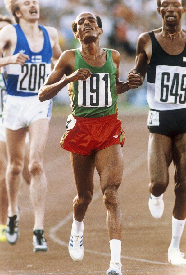 1980年モスクワオリンピック(第22回大会)の陸上競技に出場したエチオピアのミルツ・イフター選手 - Sputnik 日本