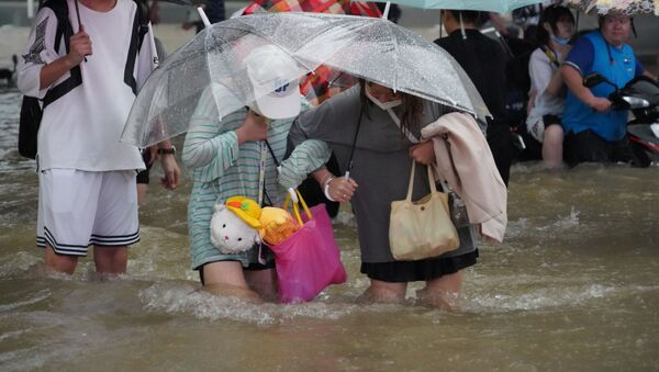 中国河南省で発生した大規模な洪水 - Sputnik 日本