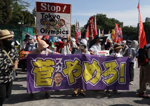 7月23日、反五輪デモ