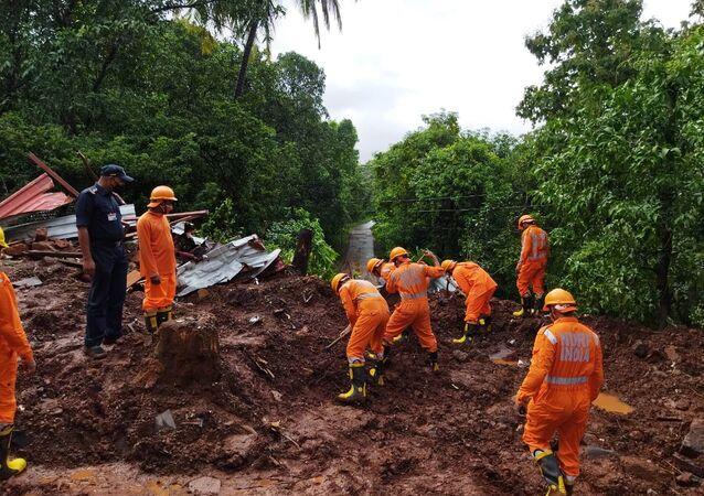 インド、土砂災害( 2021年7月)