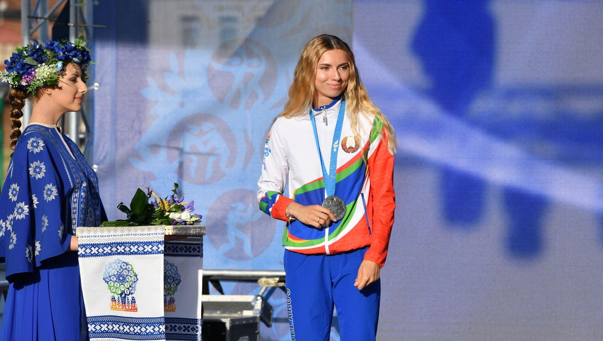 Награждение белорусских легкоатлетов, успешно выступивших на II Европейских играх - Sputnik 日本, 1920, 02.08.2021