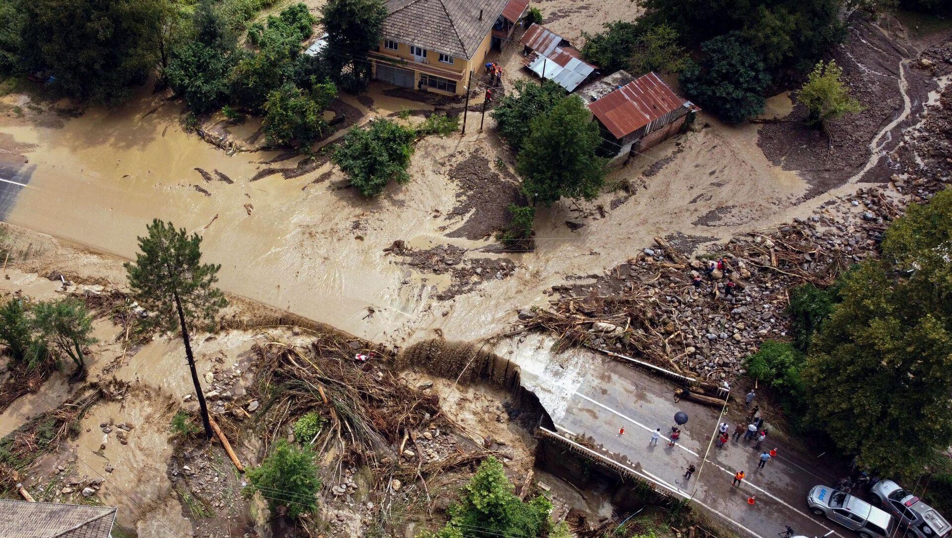 Наводнение на севере Турции - Sputnik 日本, 1920, 17.08.2021