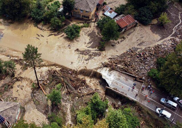 トルコ北部での洪水