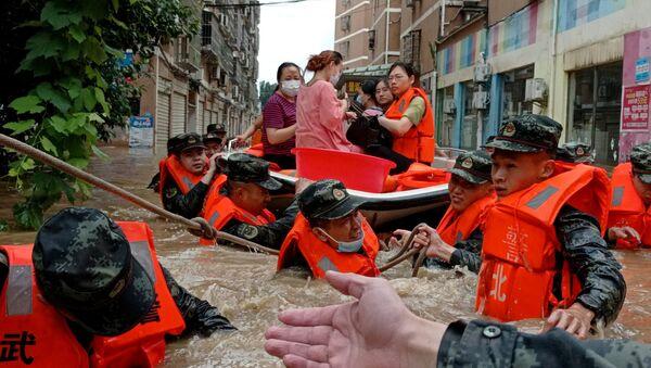 中国、洪水(2021年8月) - Sputnik 日本