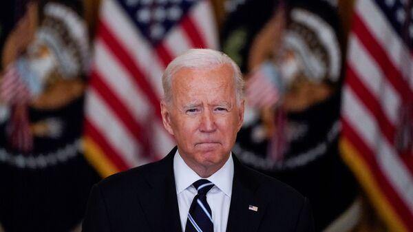 Президент США Джо Байден во время выступления в Белом доме  - Sputnik 日本