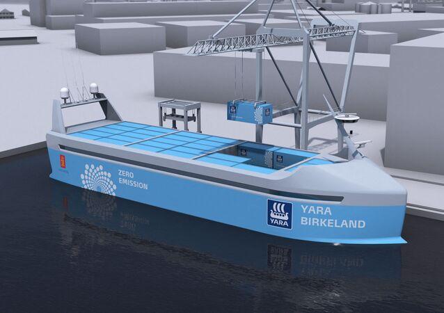温室効果ガス排出ゼロの船舶「ヤラ・ビルケラン」